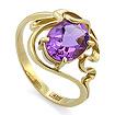 Кольцо с аметистом в золоте SLK-0280-385 весом 3.86 г  стоимостью 21616 р.