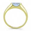 Кольцо с аквамарином и бриллиантами 3.3 г SLR-104-330